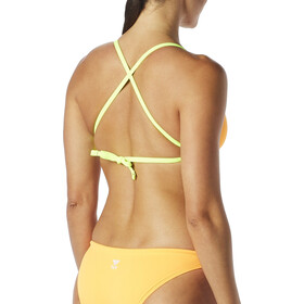 TYR Solid Crosscut Tieback Bikini Top Women fluo orange/yellow